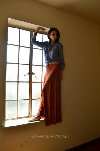 orange skirt-0366