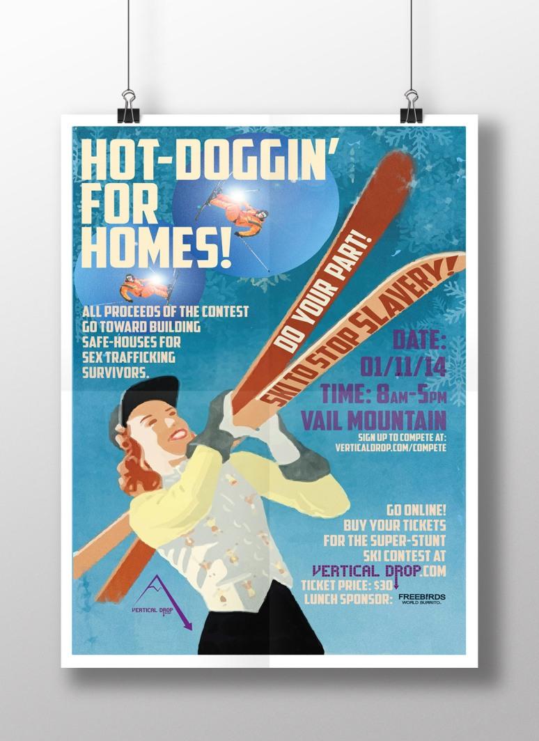 Ski-poster-mockup